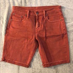 Skinny Levi Red Denim Shorts